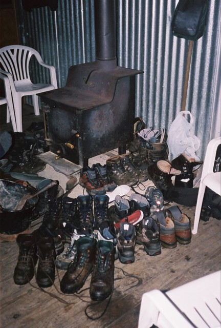 Drying Boots at Dumpling Hut