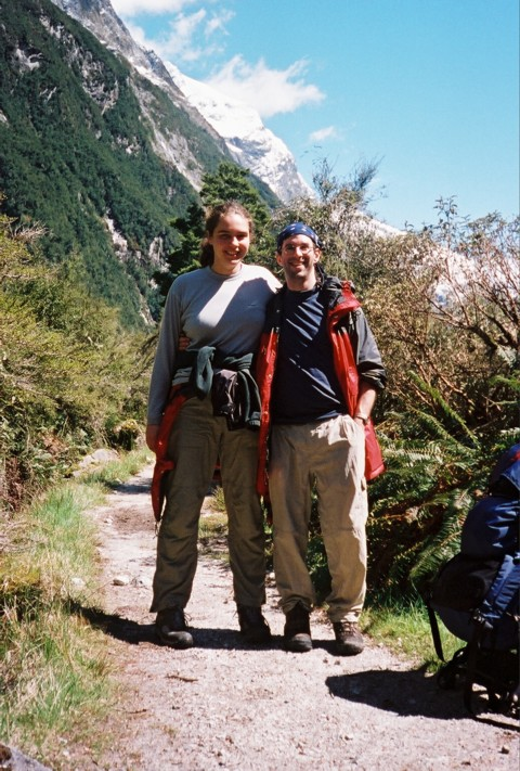 Kate and Dorian on the Milford Track