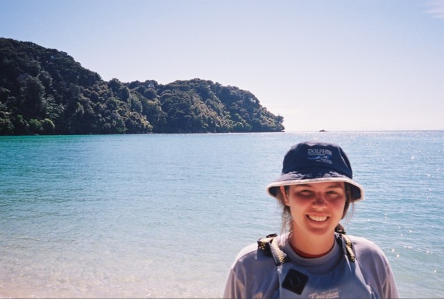 Kate at Abel Tasman