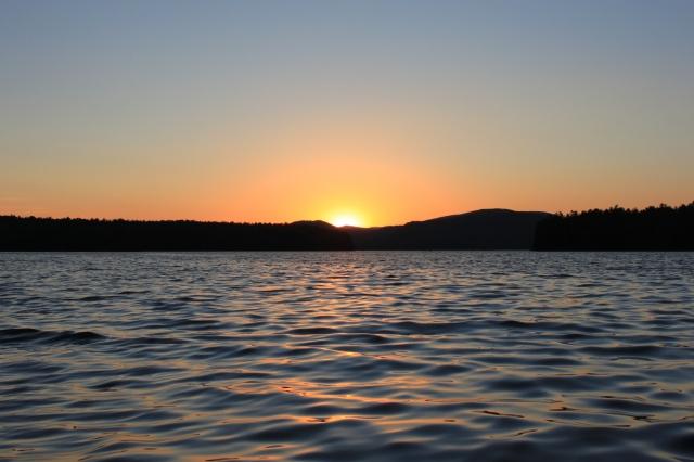 Sunset over Squam Lake