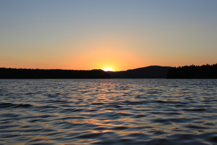 Sunset over Squam Lake