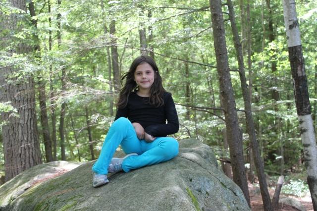 Elanor atop her rock
