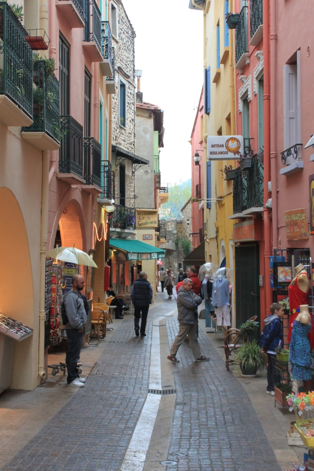 One of  Collioure's narrow streets