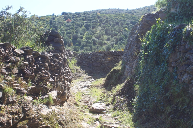 The trail out of Llanca