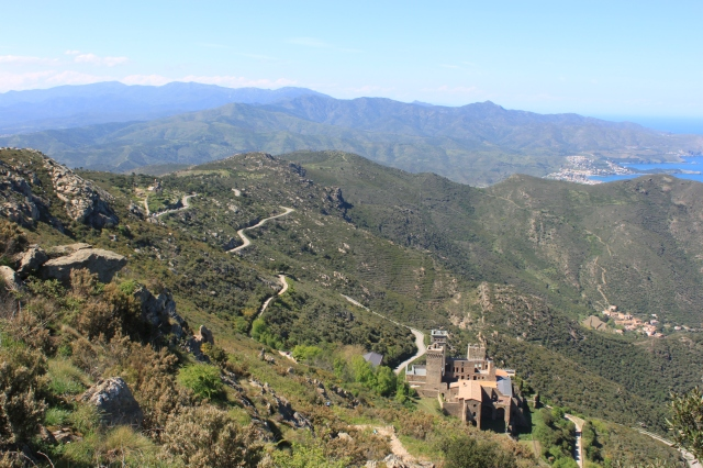 Sant Pere de Rodes, seen from above.
